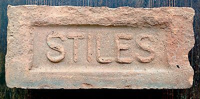 Vintage Antique STILES Red Brick Paver Street Garden Yard Decor USA Large Letter