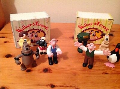 Wallace And Gromit Figures X 8 Boxed