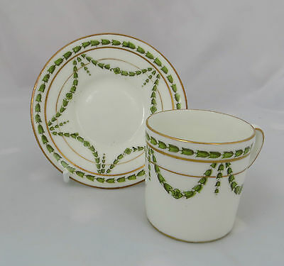 Small George Jones & Sons Cup & Saucer Crescent China Best Burnished Gold 16385