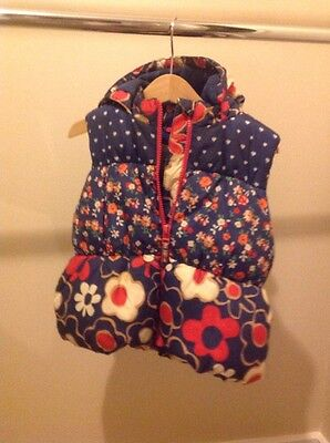 NEXT 18 - 24 Months Lined Padded Gilet Bodywarmer With Hood
