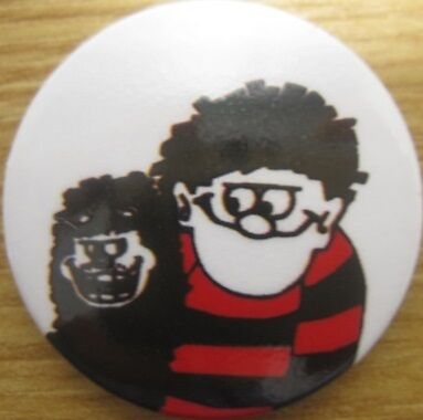 The Jam Paul Weller Dennis The Menace & Gnasher Badge Style Council A.t.y.i.
