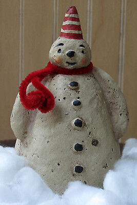 Adorable Mr. Frosty Vintage Style Paper Mache Snowman Small (up to 14in)