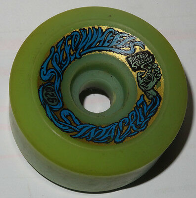 SANTA CRUZ Bullet 66mm 92a Skateboard Wheels Ice Blue FS - 80s Old School  NOS