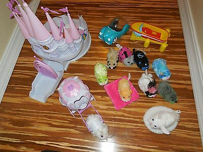 Lot of 10 Zhu Zhu Pets Castle Boat Carriage Car Accessories