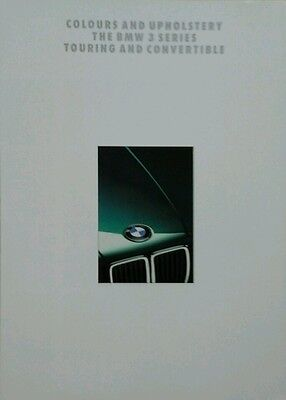 BMW E30 3 Series Touring & Convertible Colour & Upholstery Guide -- January 1993