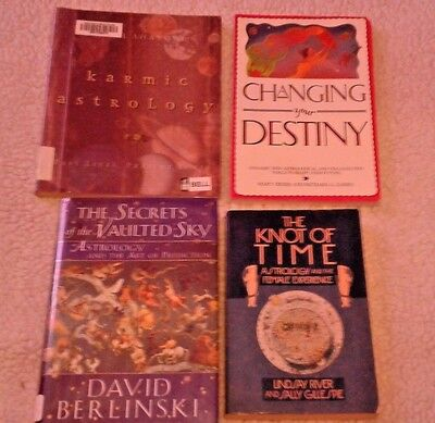 Lot Of 4 Astrology Books Changing Your Destiny Karmic Knot of Time Prediction