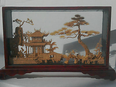 Cork Sculpture - Vintage Chinese Collection of 7
