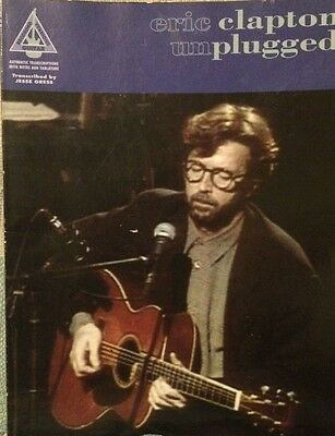Eric Clapton unplugged Guitar Tablature Book