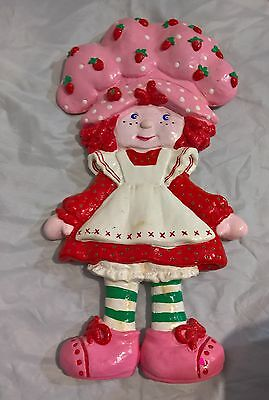 """Strawberry Shortcake Plaster Painted 15"""" Figure / Wall Hanging"""