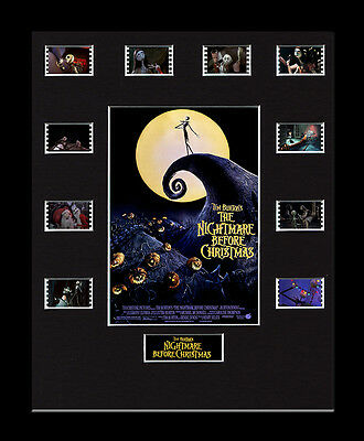 The Nightmare Before Christmas - Framed 35mm Mounted Film Cells - filmcell movie
