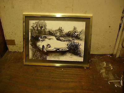 Citroen ID19 DS19 original pen and ink drawing