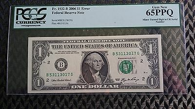 $1 Federal Reserve Note S/N Error