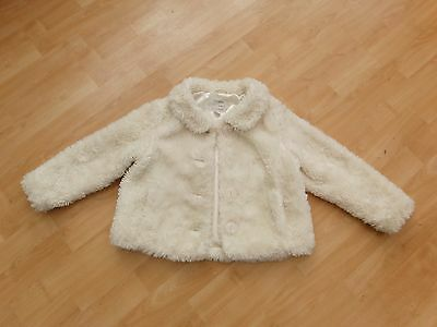 Lovely Cute Faux Fur Cream Coat From Next - Age 4-5