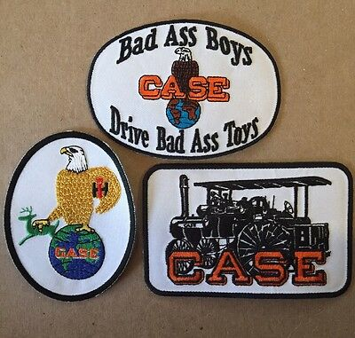 Case International Tractor Lot Of 3 Embroidered Iron On Patches Brand New