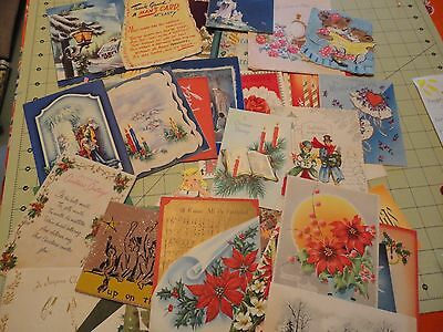 Vintage Greeting Cards 1940s 1950s  Used Scrap Booking Crafts Variety Lot of 50