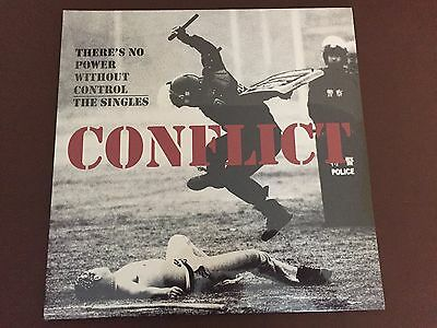 Conflict White Vinyl Punk Lp (There's No Power Without Control) Still Sealed