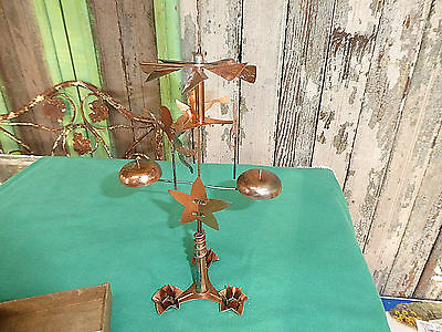 Vintage 1950's Angel-abra Candle Chimes Copper original Box Instructions Story
