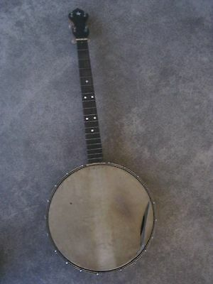 Antique 4 String Banjo 20 Lug with Inlaid Star Headstock - As Found - Project