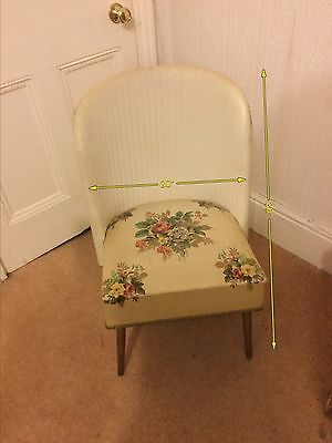 Chair Antique 1940 1950 1960 Shabby Chic Dressing Room Chair Ladies