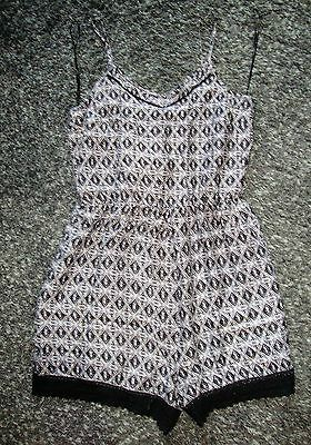 George ~ Black & Grey Playsuit ~ Size 10 ~ Worn Once