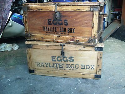 Vintage box / Original antique 1930,s vintage Raylite egg boxes - very rare.