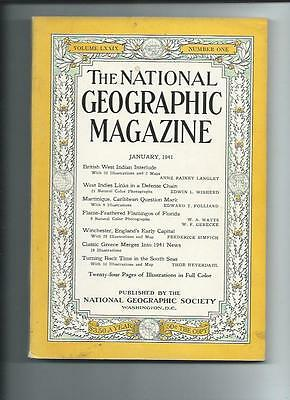 January 1941 National Geographic Magazine-Lots Of Adds And Information