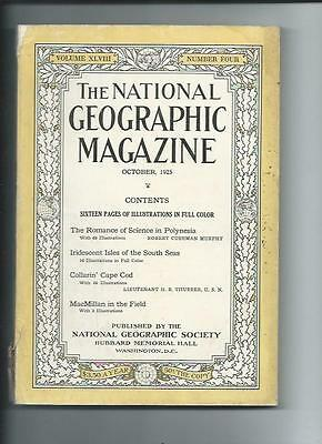 October 1925  National Geographic Magazine-Lots Of Adds And Information