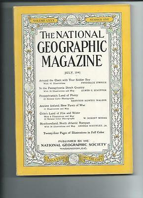 July 1941 National Geographic Magazine-Lots Of Adds And Information