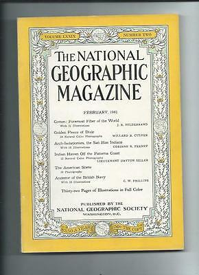 February 1941  National Geographic Magazine-Coca-Cola Add On Back