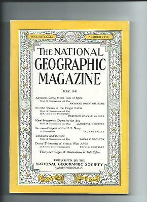 May 1941 National Geographic Magazine-Lots Of Adds And Information