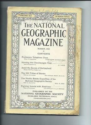 March 1922  National Geographic Magazine-Lots Of Adds And Information