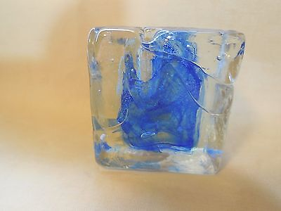 Isle Of Wight England Art Glass Pen Or Candle Holder Vintage Hand Made