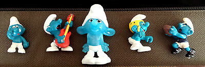 SMURFS ~ 5  PEICES...Mostly Original ~ CUTE COLLECTABLE  PEICES