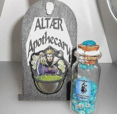 ALTAER Apothecary  small unique Halloween  POTION BOTTLE  /  Vial: Mermaid Tears