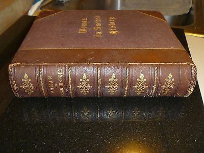 """Ancient book, collector """"Woman in Sacred History"""" by Harriet Beecher Stowe 1883"""