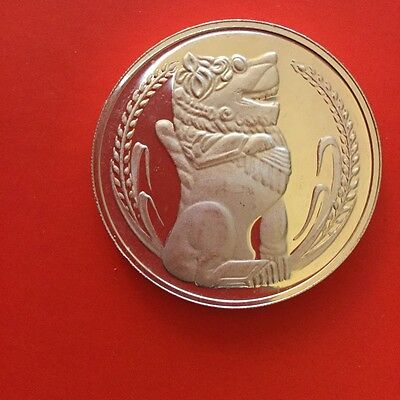SINGAPORE, Sterling Silver Proof 925 Lion Dollar Coin.1978 Nice!