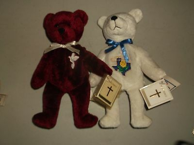Two (2) Awesome Holy Bears Grace & God Bless Texas