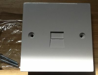 TELEPHONE SINGLE EXTENSION WALL SOCKET BRAND NEW Flush Mounted