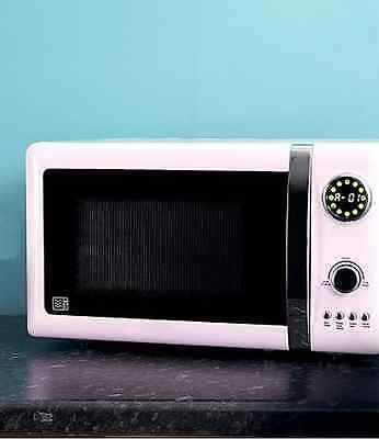 LED Retro Kitchen Digital Microwave Aid Vintage French Style Pastel Pink