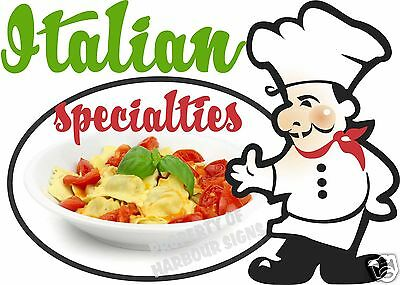 """Italian Specialties Decal 14"""" Personal Concession Restaurant  Food Truck Sticker"""