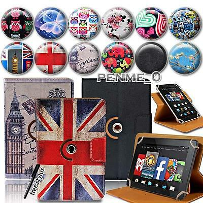 "Rotating Stand Leather Case Cover For Amazon Kindle Fire 7"" 8"" 8.9"" 10"" Tablet"