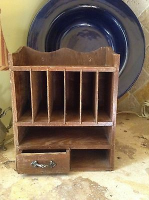 Antique Mini Wooden Shelf With Drawer