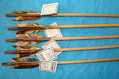 5 Handmade Navajo Arrows w/Different or Same feathers & Stone chip Arrowheads!!