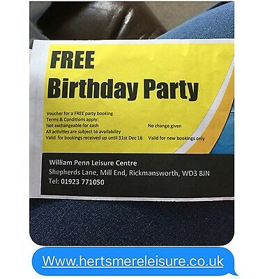 Childrens Party Package At William Penn Leisure Centre Rickmansworth