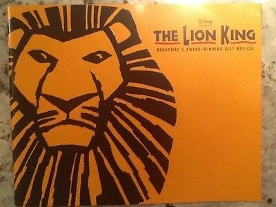 2009 The Lion King Theatre Program with Insert