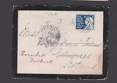 NSW 1899 2 1/2d BLUE QV ON COVER SYDNEY TO SCOTLAND (CK100)