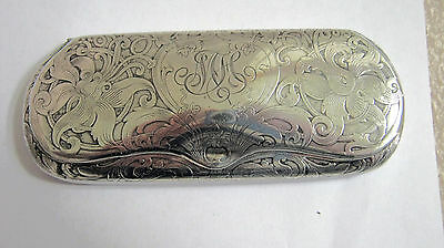Victorian Sterling Silver Eye Glasses Spectacle Case