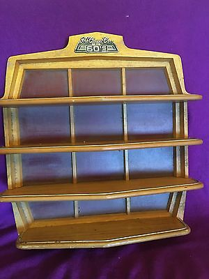 The Classic Cars Of The 60's Wood Wooden Shelf Display Franklin Mint 1:43 Scale