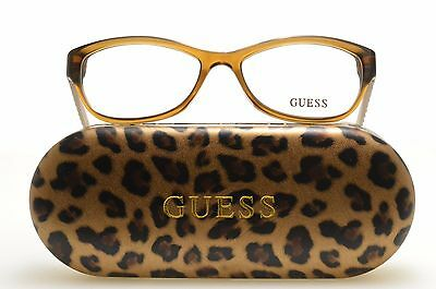�� GU 2376 LBRN New Authentic GUESS EYEGLASSES 53-16-135
