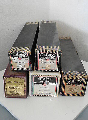 5 Welte- Mignon  Reproducing Player Piano Rolls All Good For The Licensee